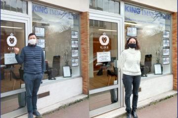anne-marie pasteau et eric janvier vous accueille dans la nouvelle agence King immobilier des Muriers